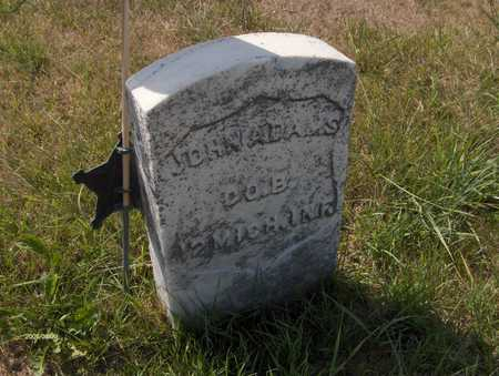 ADAMS, JOHN - Clinton County, Iowa   JOHN ADAMS