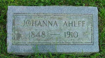 KAHLER AHLFF, JOHANNA CATHERINE - Clinton County, Iowa | JOHANNA CATHERINE KAHLER AHLFF