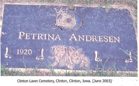 ANDRESEN, PETRINA - Clinton County, Iowa | PETRINA ANDRESEN