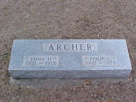 ARCHER, PHILLIP E. & EMMA H. - Clinton County, Iowa | PHILLIP E. & EMMA H. ARCHER