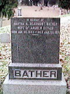 BEAUMONT BATHER, MARTHA A - Clinton County, Iowa | MARTHA A BEAUMONT BATHER