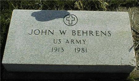 BEHRENS, JOHN H. - Clinton County, Iowa | JOHN H. BEHRENS