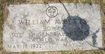 BETTS, WILLIAM A. - Clinton County, Iowa | WILLIAM A. BETTS