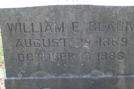 BLACK, WILLIAM E. - Clinton County, Iowa | WILLIAM E. BLACK