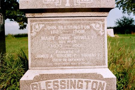 HOWLEY BLESSINGTON, MARY ANNE - Clinton County, Iowa | MARY ANNE HOWLEY BLESSINGTON