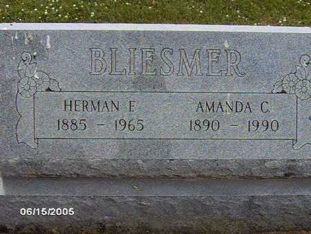 BLIESMER, HERMAN F - Clinton County, Iowa | HERMAN F BLIESMER