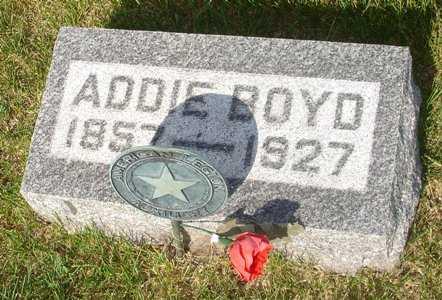 BOYD, ADDIE - Clinton County, Iowa   ADDIE BOYD