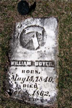 BOYER, PRIVATE WILLIAM - Clinton County, Iowa | PRIVATE WILLIAM BOYER