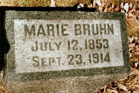 BRUHN, MARIE - Clinton County, Iowa | MARIE BRUHN