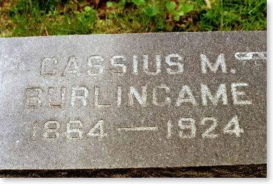 BURLINGAME, CASSIUS M. - Clinton County, Iowa | CASSIUS M. BURLINGAME