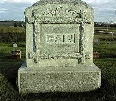 CAIN, FAMILY MONUMENT - Clinton County, Iowa | FAMILY MONUMENT CAIN