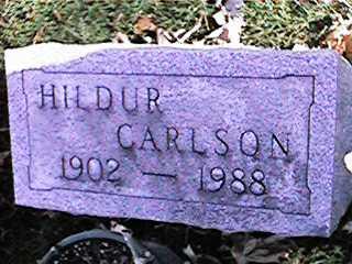 CARLSON, HILDUR - Clinton County, Iowa | HILDUR CARLSON