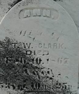 CLARK, ANN - Clinton County, Iowa | ANN CLARK