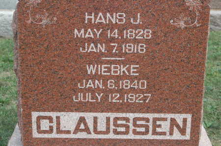 CLAUSSEN, HANS J - Clinton County, Iowa | HANS J CLAUSSEN