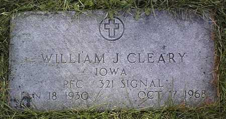 CLEARY, WILLIAM J. - Clinton County, Iowa | WILLIAM J. CLEARY