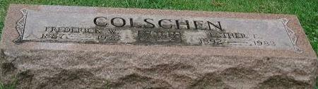 COLSCHEN, FRED & ESTER ETHELET - Clinton County, Iowa | FRED & ESTER ETHELET COLSCHEN