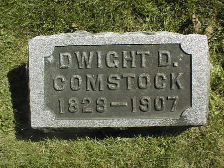 COMSTOCK, DWIGHT D. - Clinton County, Iowa | DWIGHT D. COMSTOCK