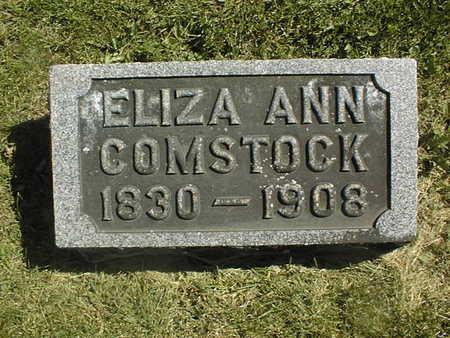 COMSTOCK, ELIZA ANN - Clinton County, Iowa | ELIZA ANN COMSTOCK