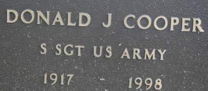 COOPER, DONALD J. - Clinton County, Iowa | DONALD J. COOPER