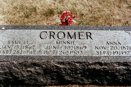 MAHON CROMER, MINNIE - Clinton County, Iowa | MINNIE MAHON CROMER