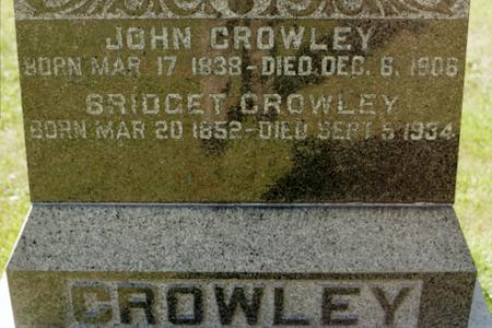 CROWLEY, JOHN - Clinton County, Iowa | JOHN CROWLEY