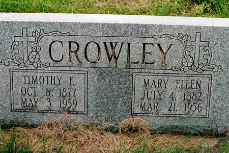 KEARNEY CROWLEY, MARY ELLEN - Clinton County, Iowa | MARY ELLEN KEARNEY CROWLEY