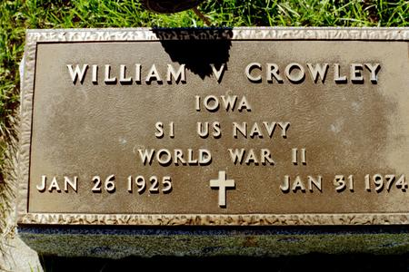 CROWLEY, WILLIAM V. - Clinton County, Iowa | WILLIAM V. CROWLEY