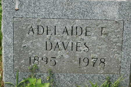 DAVIES, MARY ADELAIDE - Clinton County, Iowa | MARY ADELAIDE DAVIES