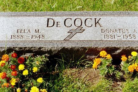 DECOCK, ELLA M. - Clinton County, Iowa | ELLA M. DECOCK
