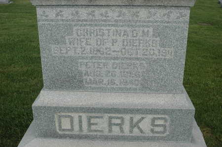 DIERKS, PETER J. - Clinton County, Iowa | PETER J. DIERKS