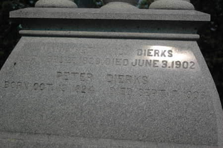 DIERKS, PETER HENRY - Clinton County, Iowa | PETER HENRY DIERKS