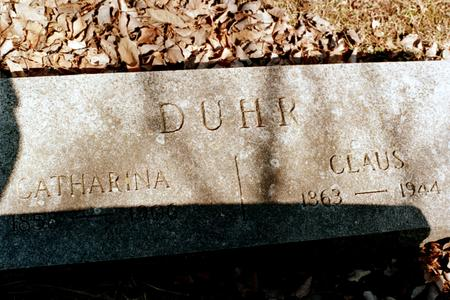 DUHR, CATHARINA - Clinton County, Iowa | CATHARINA DUHR
