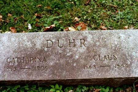 DUHR, CLAUS & CATHARINA - Clinton County, Iowa | CLAUS & CATHARINA DUHR