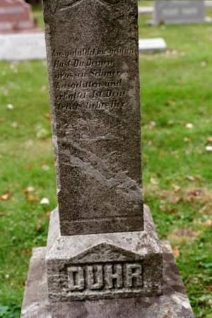 DUHR MONUMENT, FAMILY MONUMENT - Clinton County, Iowa   FAMILY MONUMENT DUHR MONUMENT