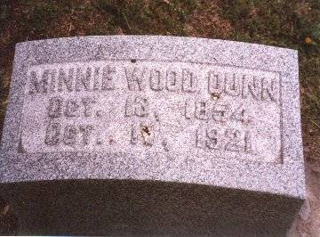 DUNN, MINNIE WOOD - Clinton County, Iowa | MINNIE WOOD DUNN