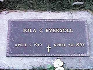 EVERSOLL, IOLA C - Clinton County, Iowa | IOLA C EVERSOLL