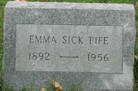 SICK FIFE, EMMA - Clinton County, Iowa | EMMA SICK FIFE