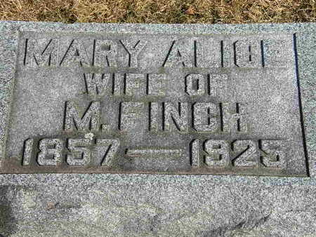 FINCH, MARY ALICE - Clinton County, Iowa | MARY ALICE FINCH