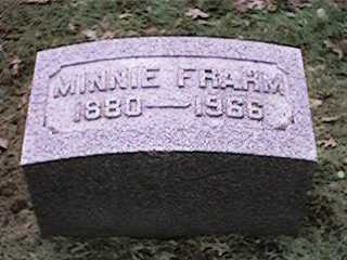 FRAHM, MINNIE - Clinton County, Iowa | MINNIE FRAHM