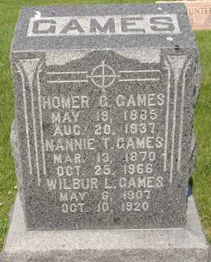 GAMES, NANNIE - Clinton County, Iowa | NANNIE GAMES