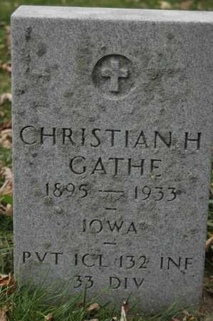 GATHE, CHRISTIAN H. - Clinton County, Iowa | CHRISTIAN H. GATHE