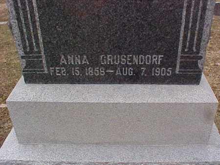 GRUSENDORF, ANNA - Clinton County, Iowa | ANNA GRUSENDORF