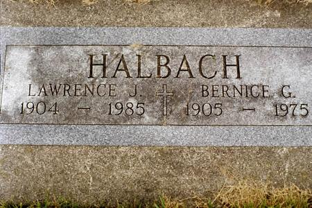 MCGRATH HALBACH, BERNICE GERTRUDE - Clinton County, Iowa | BERNICE GERTRUDE MCGRATH HALBACH
