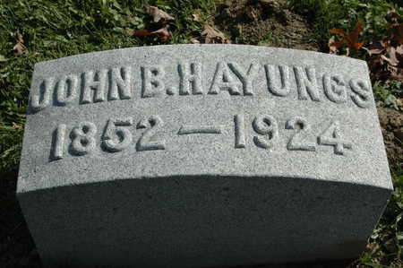 HAYUNGS, JOHN B. - Clinton County, Iowa | JOHN B. HAYUNGS
