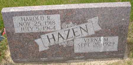 HAZEN, HAROLD R. - Clinton County, Iowa | HAROLD R. HAZEN