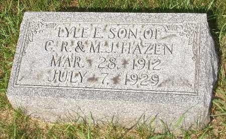 HAZEN, LYLE E. - Clinton County, Iowa | LYLE E. HAZEN