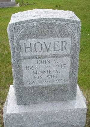 HOVER, MINNIE A. - Clinton County, Iowa | MINNIE A. HOVER