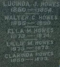 HOWES, LILLIE M. - Clinton County, Iowa | LILLIE M. HOWES