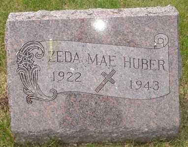 HUBER, ZEDA MAE - Clinton County, Iowa | ZEDA MAE HUBER