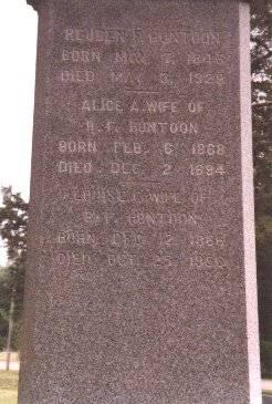 HUNTOON, ALICE ANN DUNN - Clinton County, Iowa   ALICE ANN DUNN HUNTOON